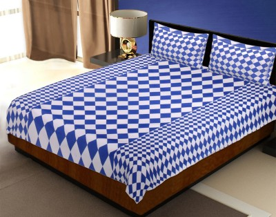 Tag Product Store Cotton Checkered Double Bedsheet