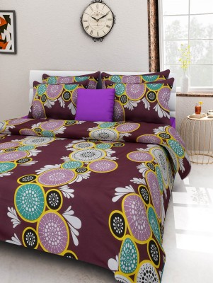 Cotton Abstract Double Bedsheet