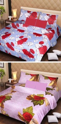 Ech Oly Cotton Printed Double Bedsheet