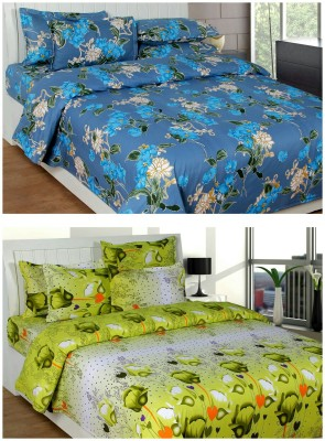 Creativehomes Cotton Floral King sized Double Bedsheet