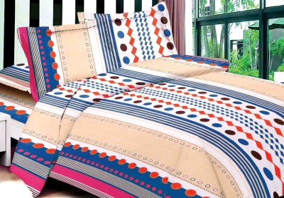 DreamFly Cotton Striped Double Bedsheet
