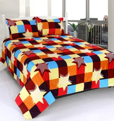 WONDER TEX INDIA Polyester Geometric Double Bedsheet