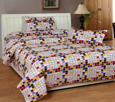 DHF Cotton Printed Double Bedsheet