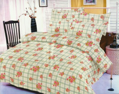 Madhavs Cotton Checkered Double Bedsheet