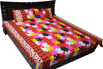 Fabbig Cotton Abstract Double Bedsheet