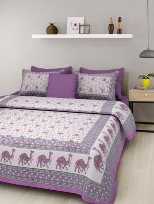 JAIPUR SANGANERI DECOR Cotton Printed Double Bedsheet