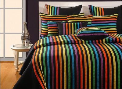 Swayam Cotton Striped Double Bedsheet