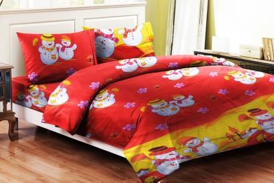 Brand Decor Polycotton Cartoon Double Bedsheet