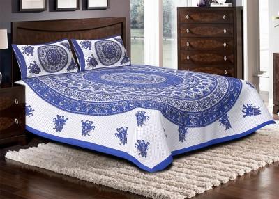 Jaipuri Haat Cotton Printed Double Bedsheet