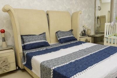 Sassoon Cotton Striped Double Bedsheet
