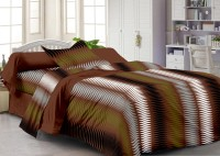Story@Home Cotton Abstract Single Bedsheet(1 Single Bedsheet With 1 Pillow Cover, Brown)