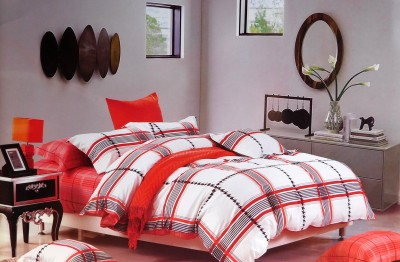 Indiano Cotton Checkered Double Bedsheet