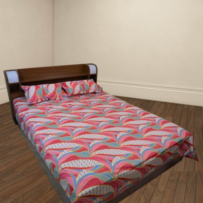 Thefancymart Cotton Geometric King sized Double Bedsheet