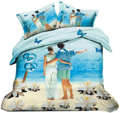 Dream Weaverz Cotton 3D Printed Double Bedsheet