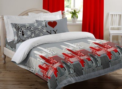Bella Casa Collection Cotton Printed Double Bedsheet