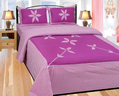 Swastik Traders Cotton Floral Double Bedsheet