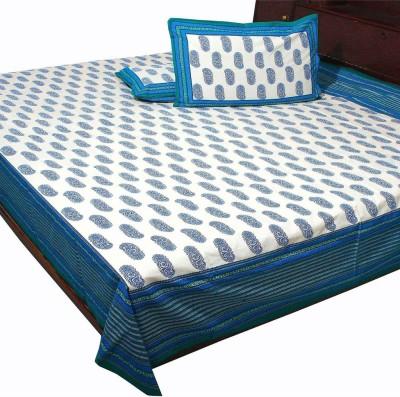 Kiran Udyog Cotton Floral Double Bedsheet