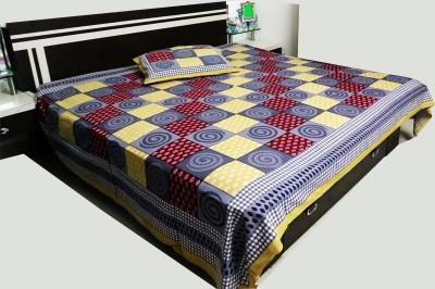 RK Raag Rang Cotton Checkered Bedsheet