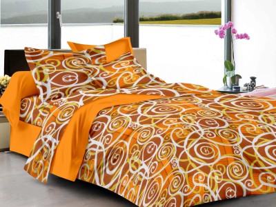 Jiya Decor Cotton Abstract Double Bedsheet