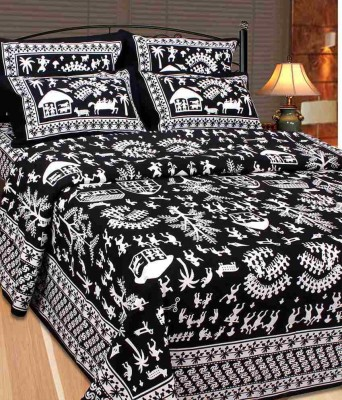 Fresh From Loom Cotton Abstract King sized Double Bedsheet