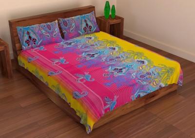 Pasricha Handlooms Cotton Abstract Double Bedsheet