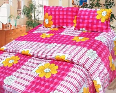 Cosmosgalaxy Cotton Checkered Double Bedsheet