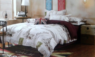 Spade Polyester 3D Printed Double Bedsheet