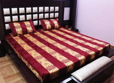 Milan Polycotton, Jacquard Striped King sized Double Bedsheet