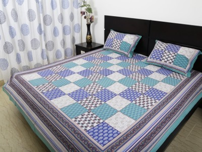 Ethnic Rajasthan Cotton Geometric Double Bedsheet