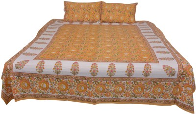 Chhipa Prints Cotton Floral Queen sized Double Bedsheet