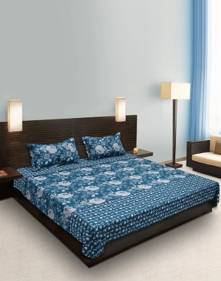 Heritage Singhal Cotton Floral Double Bedsheet