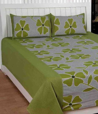 shriji Cotton Floral King sized Double Bedsheet