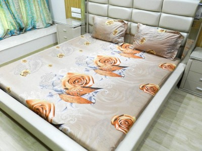 Gama Amor Cotton Floral Queen sized Double Bedsheet