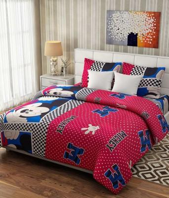 GURU KIRPA HANDLOOM Cotton Cartoon Double Bedsheet