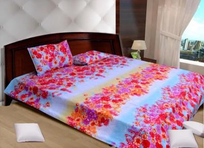 Creativezone Polycotton Floral King sized Double Bedsheet