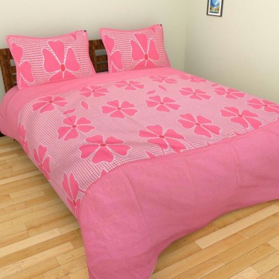 MR DHINGRA Cotton Floral Double Bedsheet