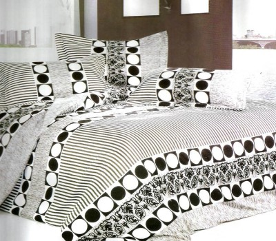 Reliable Polycotton Geometric Double Bedsheet