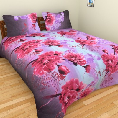 Ruby Polycotton Floral Double Bedsheet