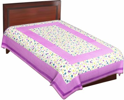 Navkar Eshop Cotton Printed Single Bedsheet