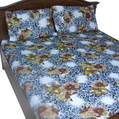 Looms of India Cotton Floral Double Bedsheet