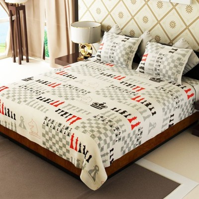 Handloom Times Cotton Abstract Double Bedsheet