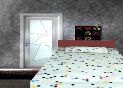 Tidy Cotton Printed Double Bedsheet