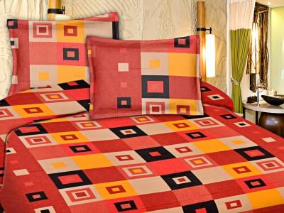 Snuggles Cotton Geometric Double Bedsheet
