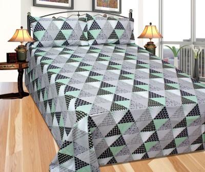 Needdle Cotton Striped Double Bedsheet