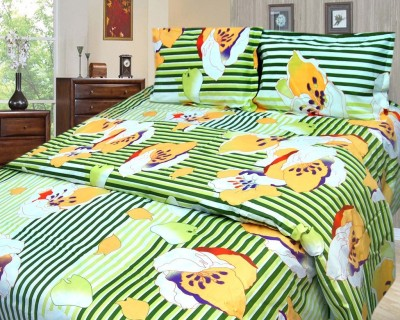 Cosmosgalaxy Cotton Striped Double Bedsheet