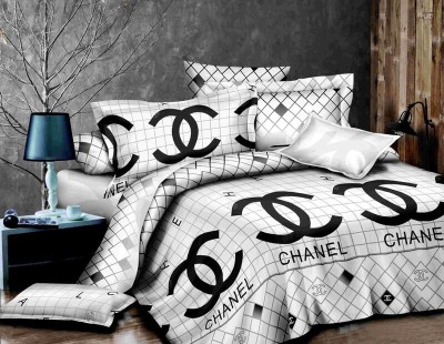 Naaz Collection Cotton 3D Printed King sized Double Bedsheet