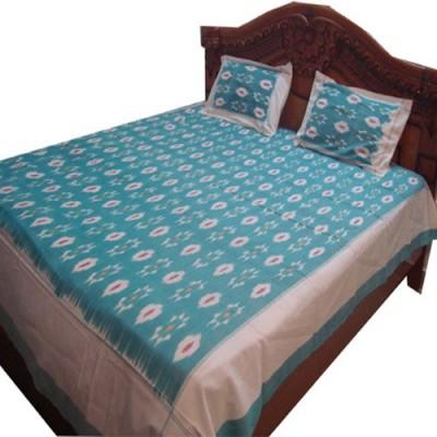 keerthana handlooms Cotton Geometric Double Bedsheet