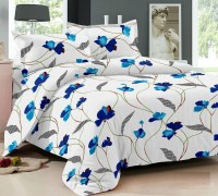 Hi-Life Cotton Printed Double Bedsheet(1 Double Bedsheet and 2 Pillow Covers, Multicolour)