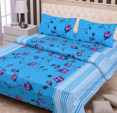 FIFTH ELEMENT Cotton Floral Double Bedsheet
