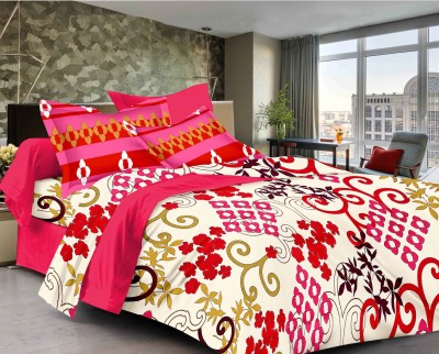 Classic Furnishing Plus Cotton Abstract Double Bedsheet
